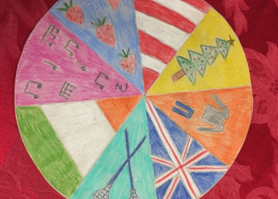 A cultural mandala made by a student.