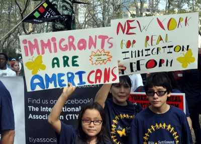 Immigration demonstration in New York