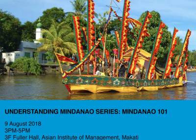 Mindanao 101 | 9 August 2018 | 3-5 PM | AIM