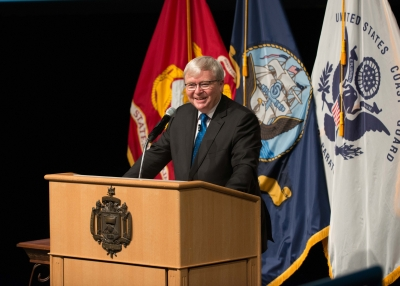 Kevin Rudd at the U.S. Naval Academy, Oct. 10, 2018
