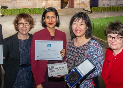 Saathi wins the 2019 St Andrews Prize for the Environment