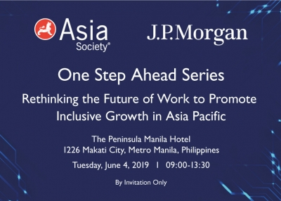 Rethinking the Future of Work to Promote Inclusive Growth in Asia Pacific | Manila, June 4