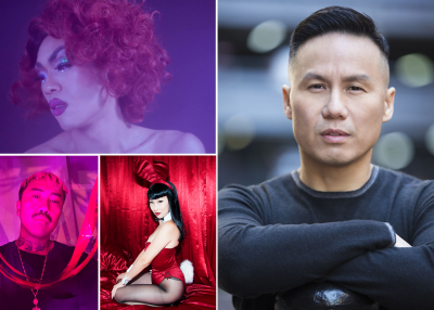 First Friday featuring guests Wo Chan, BD Wong, Agent Wednesday, DJ Tito_Vida (Images courtesy of artists.)