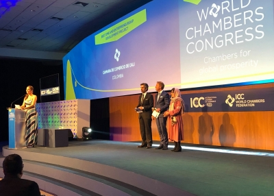 Manizha Wafeq and the AWCCI at the 2019 World Chambers Competition