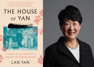 Lan Yan and book cover