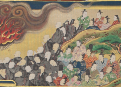 The Illustrated Life of Shinran Shōnin (detail). Japan. Edo period, 1699.