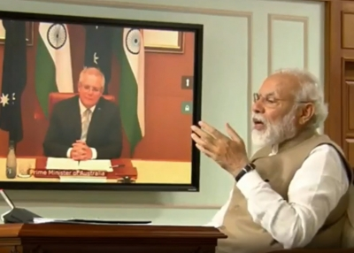 Prime Ministers Modi and Morrison Virutal Summit - Modi - Twitter