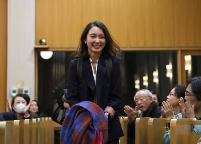 Shiori Ito in court on December 18, 2019