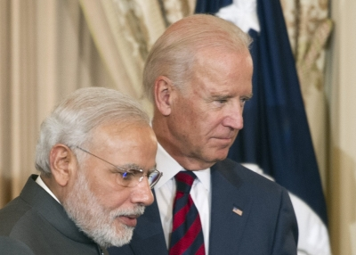 Narendra Modi and Joe Biden