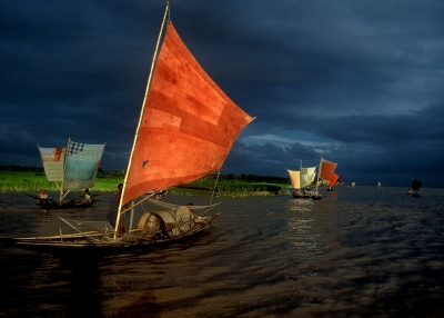 Sailboat Fishing for Ilish by Shahidul Alam