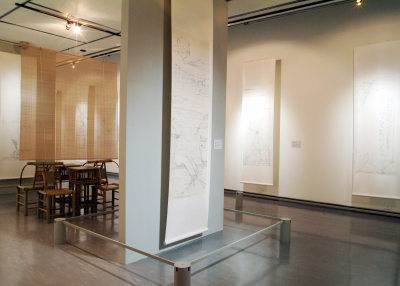 Installation shot, The Yellow Box: Contemporary Calligraphy and Painting in Taiwan, Taipei: Taipei Fine Arts Museum (2005).
