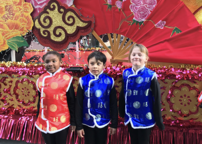 Proud students at the San Francisco Chinese New Year Parade