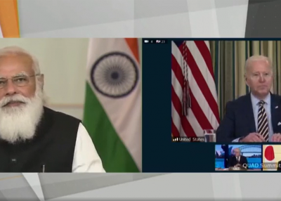Quad Summit - Prime Minister Modi - Facebook screencap