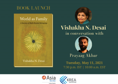 [Book Launch]  World as Family: Vishakha N. Desai, in conversation with Prayaag Akbar