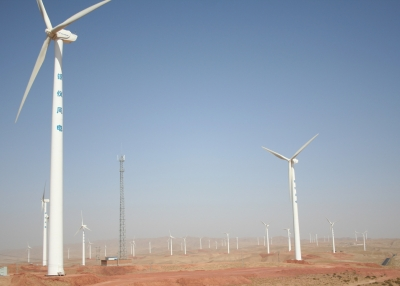 Ningxia Wind Farm in Northern China (Land Rover Our Planet / Flickr)