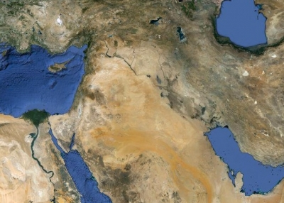 The Arabic-speaking world spans across many countries. (Google Earth)