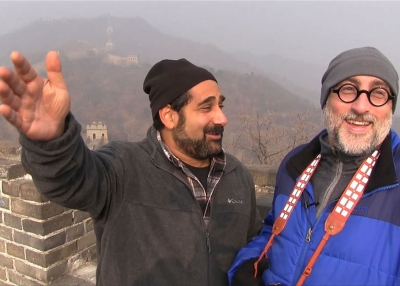 Greg Matza (left) and Howie Southworth at the Great Wall of China