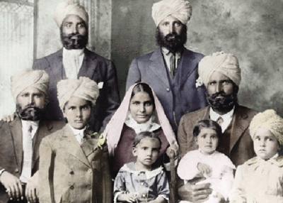 An immigrant Punjabi family in America c. 1900s