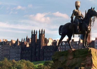 View of Edinburgh's old city from Princess Garden park. (Jean-Loup Gautreau/AFP/Getty Images)