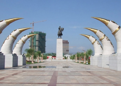 Genghis Khan's Monument in Hohhot, Inner Mogolia, China.