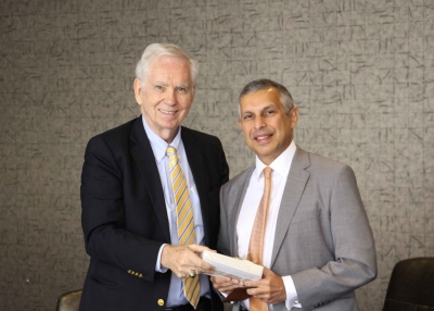 Left to right: Charles Foster and Ambassador Mirpuri