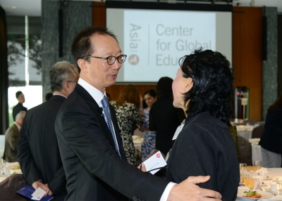Council member Antony Leung with a guest at an Asia Society event