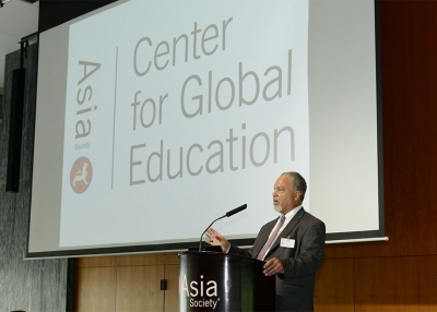 Tony Jackson speaks at a 2015 event in advance of the Center launch.