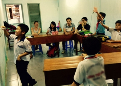 Students in class in Vietnam (Vanessa Shadoian-Gersing)