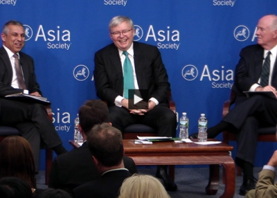 Kevin Rudd, Thomas Donilon, and Ashok Kumar Mirpuri