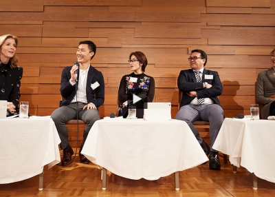 Caroline Kennedy, Eugene Yi, Kanae Doi, Arnel Casanova, and Bernise Ang at Asia Society Japan Center.