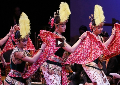 Dancers and musicians of the court of Yogyakarta perform at Asia Society New York