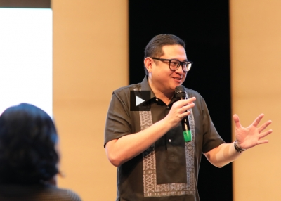 Bam Aquino addresses the Asia 21 Young Leaders conference