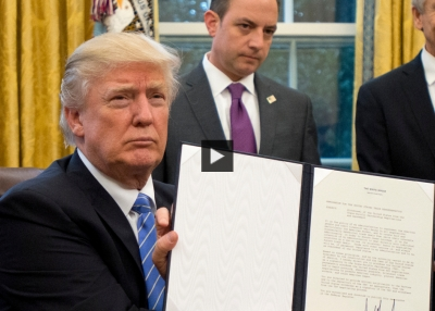 President Trump formally withdraws the U.S. from TPP