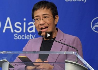 Maria Ressa at Asia Society New York.