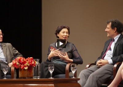 Zha Jianying speaks at Asia Society in New York.