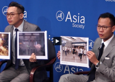 Dennis Kwok and Alvin Yeung at Asia Society New York.