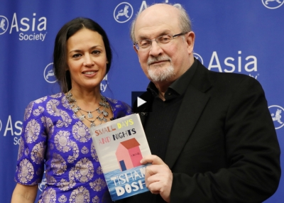 Tishani Doshi and Salman Rushdie