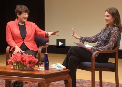 Lan Yan and Bianna Golodryga at Asia Society New York