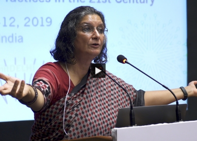 Kavita Singh delivers the third keynote address at the 2019 Arts & Museum Summit hosted by Asia Society in Delhi, October 12, 2019