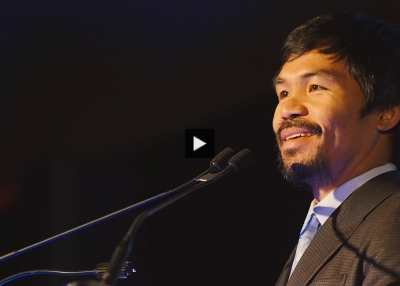 Manny Pacquiao: 'Keep on Fighting' to End Poverty