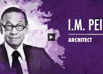 I.M. Pei Accepts Asia Society Asia Game Changer Lifetime Achievement Award