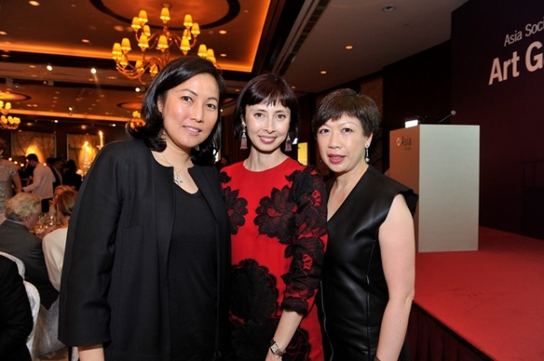 (L to R) Patti Wong, Melissa Chiu, Wendy Lee at Asia Society's second annual Art Gala on May 12, 2014. (Asia Society Hong Kong Center)