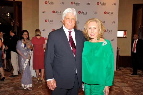 (L to R) Robert and Chantal Miller at Asia Society's second annual Art Gala on May 12, 2014. (Asia Society Hong Kong Center)