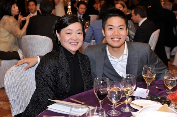 (L to R) S. Alice Mong and Tony Cheng at Asia Society's second annual Art Gala on May 12, 2014. (Asia Society Hong Kong Center)