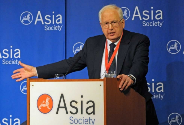 Ambassador J. Stapleton Roy, Director of the Kissinger Institute on China and the United States at the Woodrow Wilson International Center for Scholars, delivered the keynote address on March 13, 2013. (Elsa Ruiz/Asia Society)
