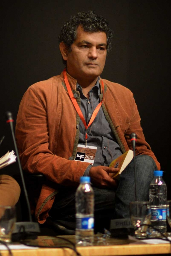 "Mohammed Hanif at the panel ""Literature of Resistance"" on Day 1. (Saad Sarfraz Sheikh)"