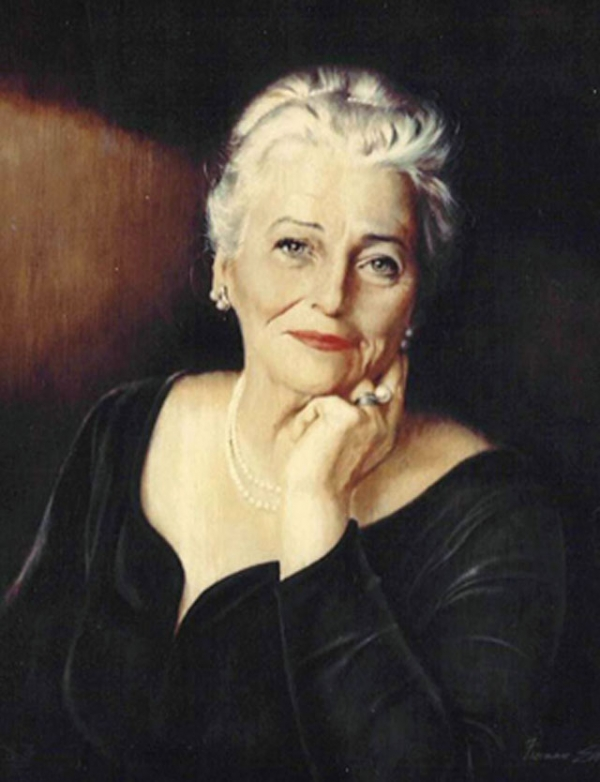 Pearl S. Buck by Freeman Elliot. Oil on canvas, 1964. (Pearl S. Buck International)