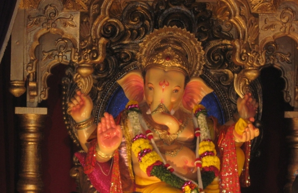 Mumbai's Hindus celebrate ten days of Ganesh Chaturthi festival in mid-September of every year, with virtually the whole city joining in song and parades in praise of the elephant-headed god. (Komal Hiranandani/Asia Society India Centre)
