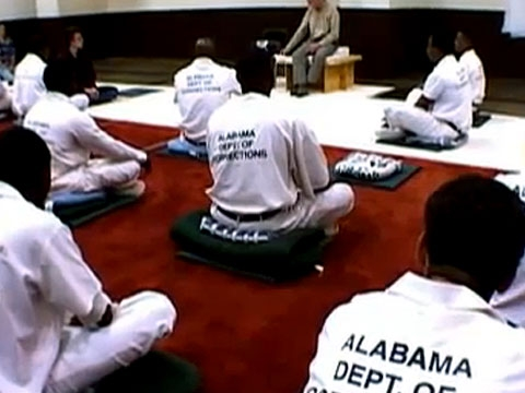 Scene from the documentary Dhamma Brothers, directed by Jenny Phillips (see below).