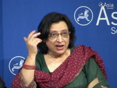 """Wah! Wah!"" Fahmida Riaz reciting at Asia Society's mushaira on Apr. 30, 2011 (video below)."